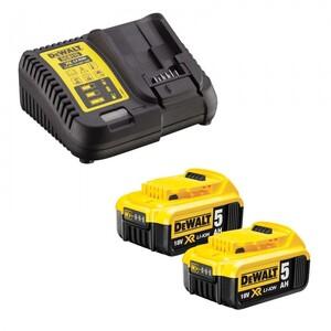 DEWALT set univerzalni aku punjač XR + 2 x 5,0 AH baterija 2XDCB184+DC115