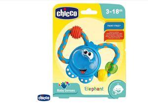 Chicco Zvečka grickalica, slon, 3m+