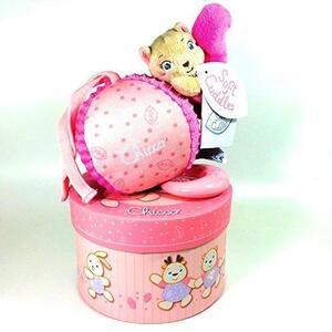 Chicco Vjeverica na potezanje, kutija, roza, 0m