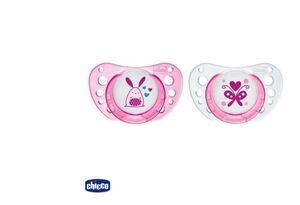 Chicco Duda Physio air, 0m-6m, roza, kaučuk, 2kom