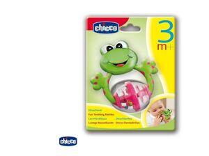 Chicco Zvečka grickalica, žaba, 3m+