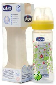 Chicco Plastična  bočica 250ml,silikonska duda,2rupe