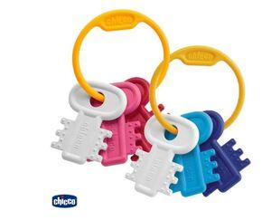 Chicco Ključevi za desni, plavi/rozi, 3 mj.+