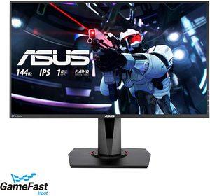 Monitor ASUS VG279Q, FULL HD 1920x1080, 27 IPS, 400 cd/m2, NVIDIA G-Sync, HDMI, DP, DVI, 144Hz, 1ms