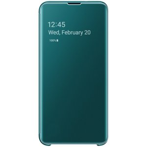 Samsung S10e Clear View Cover Green