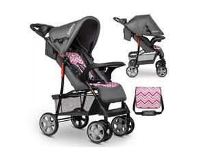 Lionelo dječja kolica EMMA PLUS Roza -scandi + torba za mamu