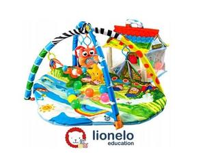 Lionelo dječja podloga za igru -edukativni madrac s igračkama