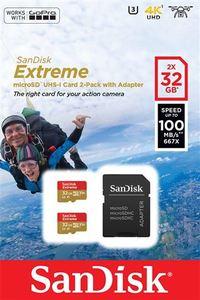 Memorijska kartica SanDisk Extreme microSDHC 32GB + Adapter
