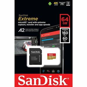 Memorijska kartica SanDisk Extreme microSDXC 64GB + Adapter
