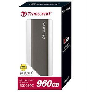 Eksterni hard disk TRANSCEND SSD ESD250C 960GB Type-C Svermisko sivi