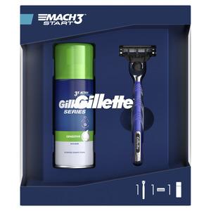 Gillette britvica Mach3 + 1 patrona + pjena za brijanje 100 ml sensitive