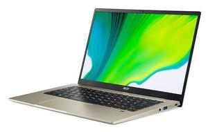 Laptop Acer Swift 1 Gold NX.HYNEX.008, 14 FHD IPS, Intel Pentium Silver N5030, 8GB RAM, 256GB PCIe NVMe SSD, Intel UHD Graphics 605