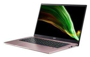 Laptop Acer Swift 1 Pink NX.A9NEX.004, 14 FHD IPS, Intel Pentium Silver N5030, 8GB RAM, 256GB PCIe NVMe SSD, Intel UHD Graphics 605