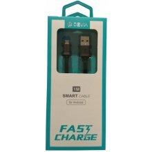 DEVIA tip C USB kabel, crni