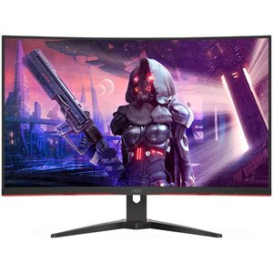 Monitor AOC CQ32G2SE Gaming zakrivljeni, QHD 2560x1440, 31,5 VA, 250 cd/m2, HDMI, DP, Tilt, Frameless, Crno-Srveni, 165Hz, 1ms, 3 godine garancija