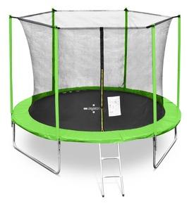 LEGONI trampolin FUN sa zaštitnom mrežom i ljestvama, 244cm-zelen