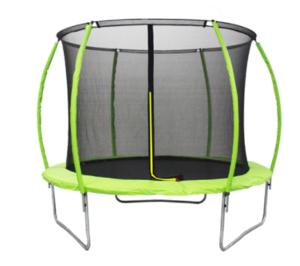 LEGONI trampolin SPACE sa zaštitnom mrežom i ljestvama, 425cm-zeleni