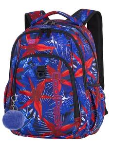 """CoolPack ruksak 3 zipa Strike 17"""" Red Flowers art.88190"""