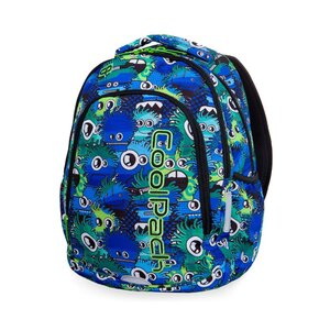 CoolPack ruksak školski 2 zipa Wiggly Eyes Blue art.B25034