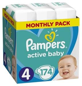 Pampers pelene Active Baby S4 MSB 174kom