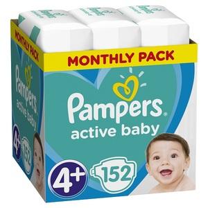 Pampers pelene Active Baby S4+ MSB 152kom