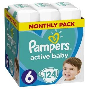 Pampers pelene Active Baby S6 MSB 124kom