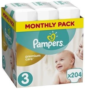 Pampers pelene Premium Care S3 MSB 204kom