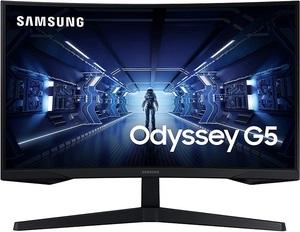 Monitor Samsung LC27G55TQWRXDU Odyssey G5, Gaming, WQHD 2560x1440, 27 VA, 250 cd/m2, AMD FreeSync Premium, HDMI, DP, HDR10, 144Hz, 1ms