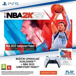 PS5 Dualsense Wireless Controller + NBA2K22 Jumpstart Bundle voucher