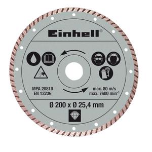 EINHELL dijamantna rezna ploča 200x25.4 mm za RT-TC 520 U