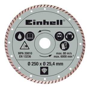 EINHELL dijamantna rezna ploča 250x25.4 mm za RT-SC 570 L