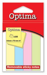 Zastavice označ.BZ-3-2 75X75 4bojex50 pastel OPTIMA 22915