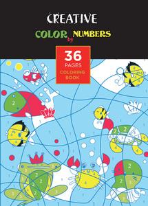 Bojanka za djecu Creative COLOR BY NUMBERS
