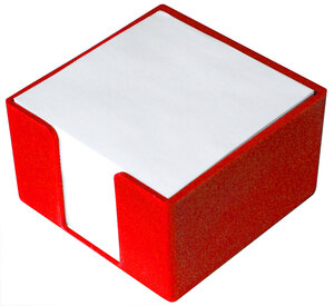 Blok kocka PVC 8x8x5 crvena