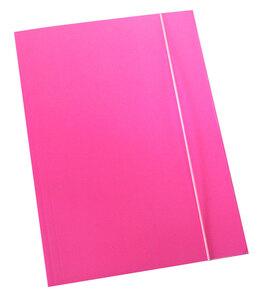Fascikl prešpan/lak s gumicom A4 600gr OPTIMA fluo roza 60670