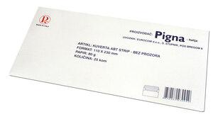Kuverta 11x23 ABT strip bijela 80gr. OFFICE 25/1