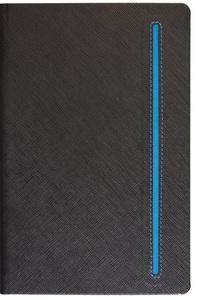 Notes TEXTURE BLACK A5 14x21 crno-plavi