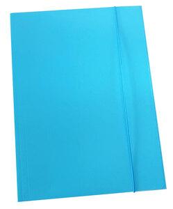 Fascikl prešpan/lak s gumicom A4 600gr OPTIMA sv.plavi 60672