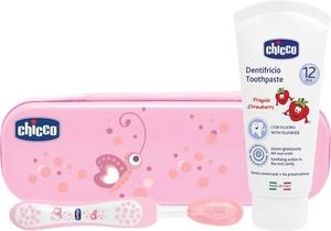 Chicco set za oralnu njegu rozi