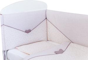Bubaba posteljina 3-djelna rozo srce