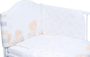 Bubaba posteljina 6-dijelna bež medo sa srcima