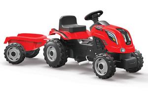 Smoby traktor sa prikolicom crveni