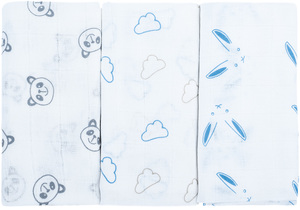 Bubaba dječje tetra pelene 3/1 plavi zeko