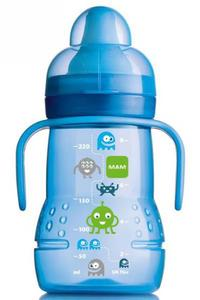 MAM bočica sa mekanim nastavkom 220 ml plava