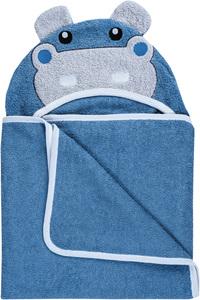 Bubaba ručnik s kapuljačom i ušima hippo 110 x 75 cm