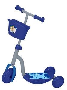 Romobil na 3 kotača sa svjetlima i košarom plavi