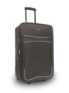 TRAVEL&MORE kofer srednji 2K crni sa sivim detaljima