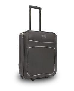 TRAVEL&MORE kofer mali 2K crni sa sivim detaljima