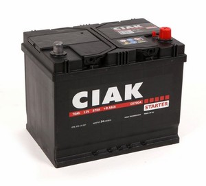 Akumulator CIAK Starter 12V- 70Ah +D Asia