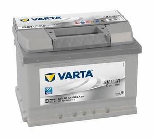 Akumulator Varta  Silver Dynamic 12V- 61Ah +D / D21